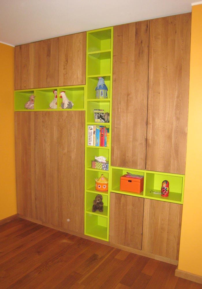Jugendzimmer Schrank und Regal