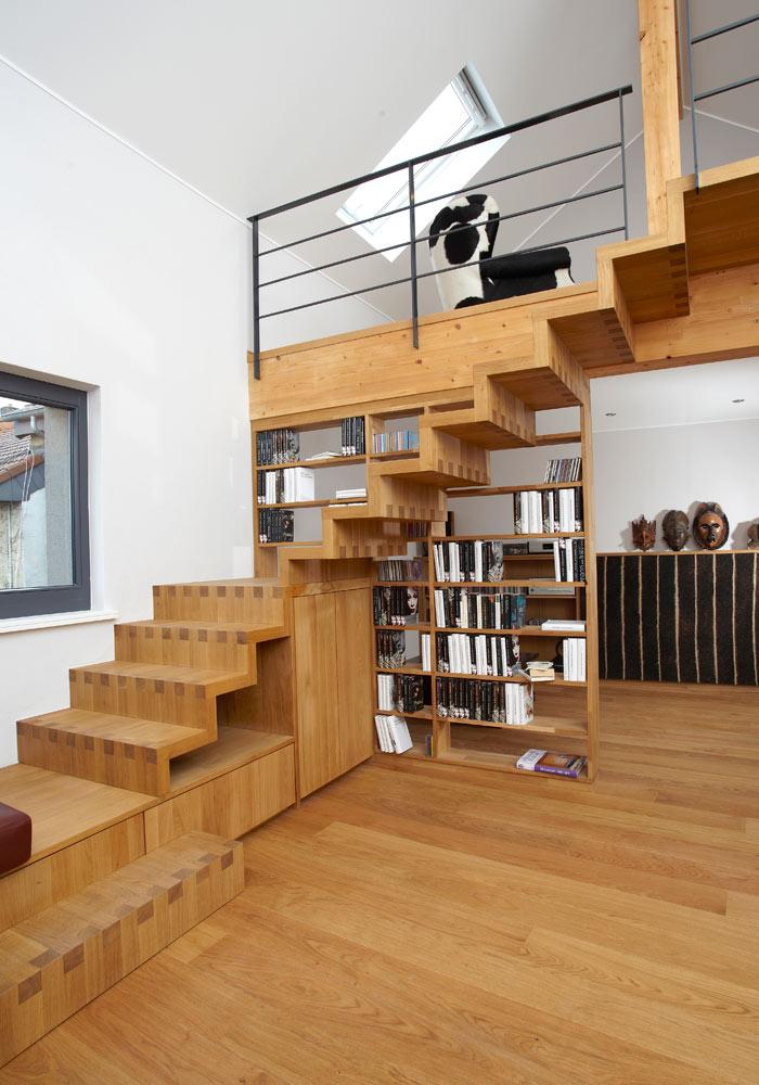 treppe und regal schreinerei inform. Black Bedroom Furniture Sets. Home Design Ideas